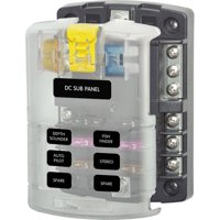 Product Image Blue Sea Systems ST Blade Fuse Block 6 Circuits With Negative Bus And Cover