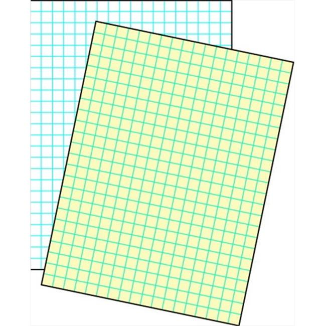 School Smart 085627 Cross-Section Ruled Drawing Paper, White - 0.25 In. Ruled