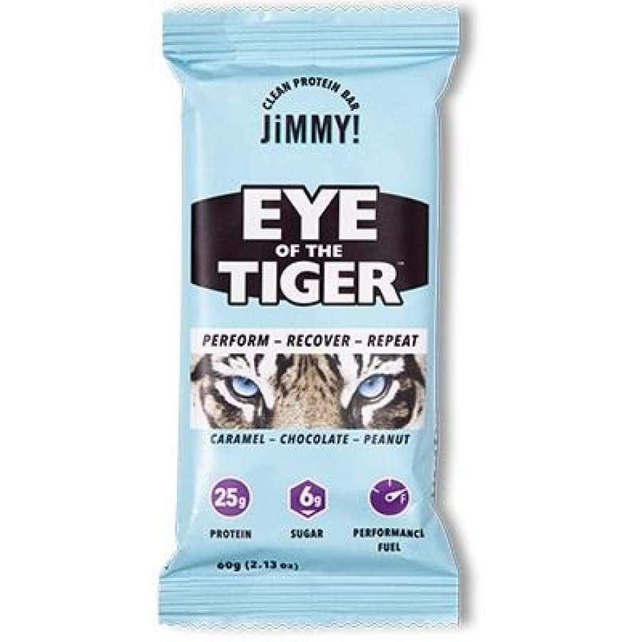 High Protein Caffeinated JiMMYBAR! Bar - Eye of the Tiger (Caramel Chocolate Peanut)