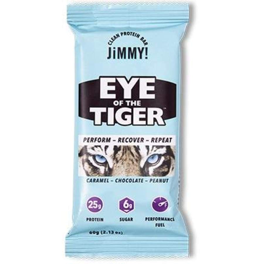 High Protein Caffeinated JiMMYBAR! Bar - Eye of the Tiger (Caramel Chocolate Peanut)