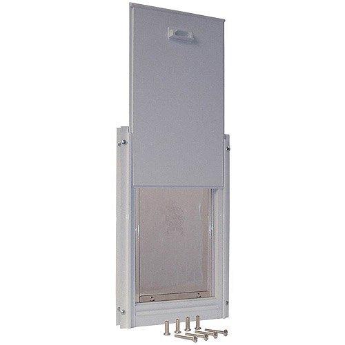 Merveilleux Ideal Deluxe Aluminum Pet Door White, Super Large