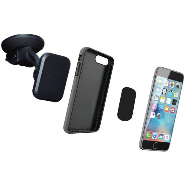 Ematic Smc1462 Hands Free 360 Degree Magnetic Smartphone Holder Walmart Com Walmart Com