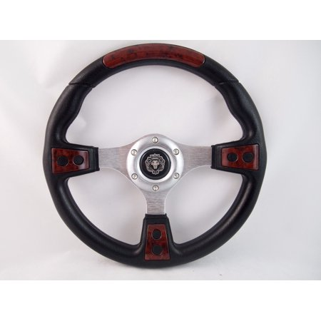 Marine Steering (Marine Boat BURL WOOD Steering wheel W/ 3/4