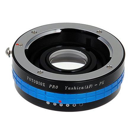 Pentax Pk Mount - Fotodiox Pro Lens Mount Adapter - Yashica 230 AF SLR Lens to Pentax K (PK) Mount SLR Camera Body with Built-In Aperture Control Dial