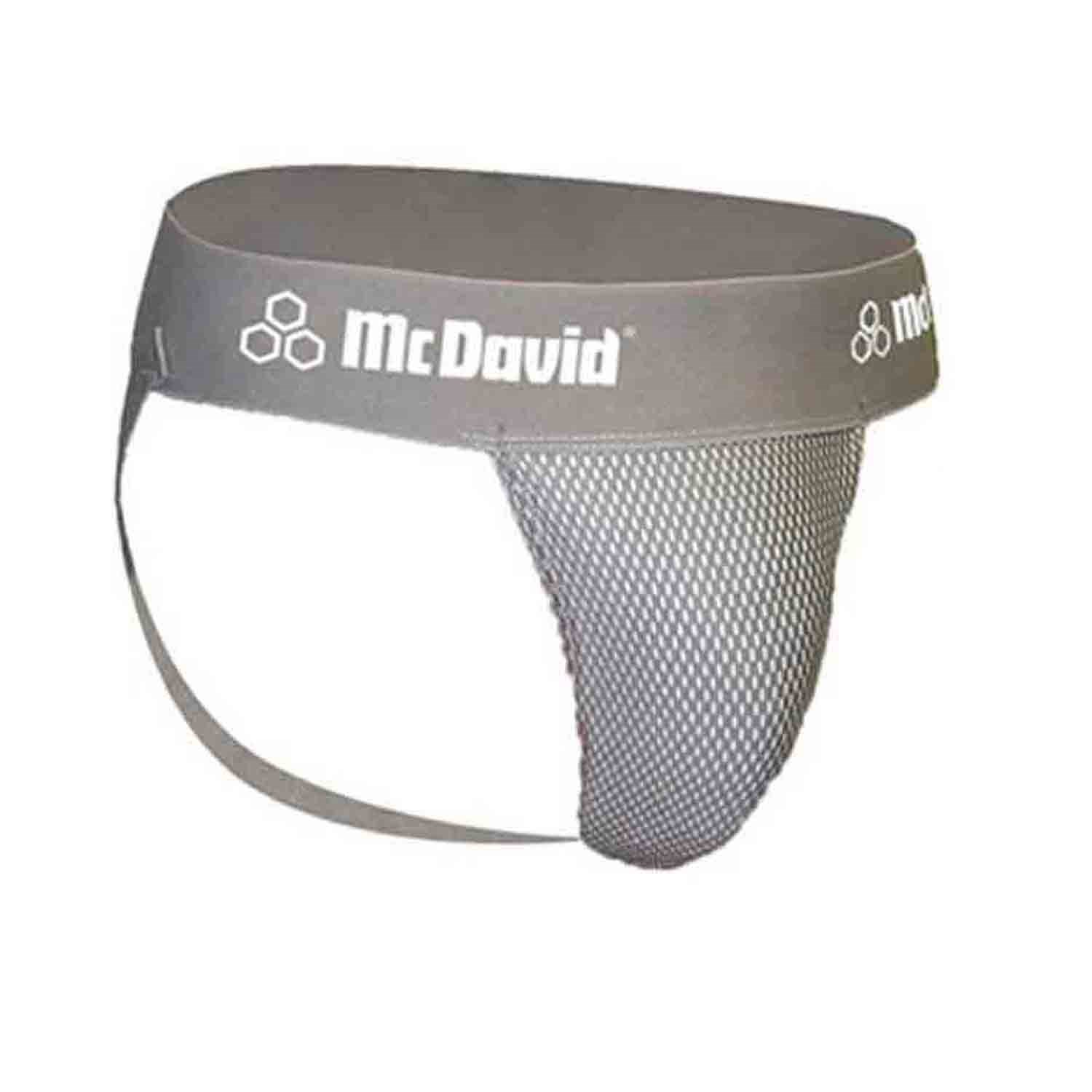 McDavid Classic Logo 3300 CL Athletic Supporter / Mesh - Adult Gray - Small