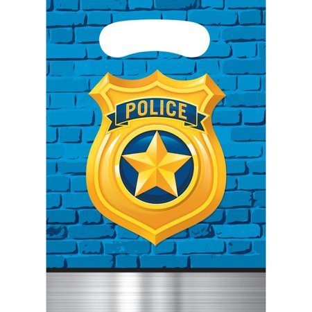 Creative Converting Police Party Favor Bags, 8 ct