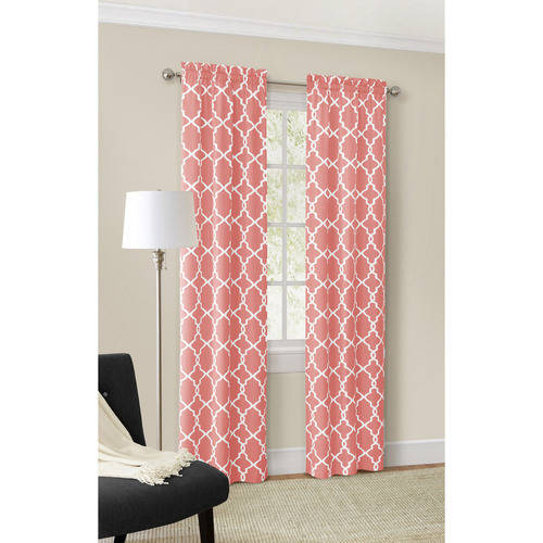 Mainstays Calix Fashion Window Curtain, Set of 2 by Ellery Homestyles Studio