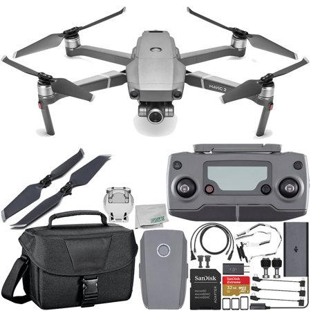 e783b0f2a21 DJI Mavic 2 Zoom Drone Quadcopter with 24-48mm Optical Zoom Camera Travel Starter  Bundle - Walmart.com