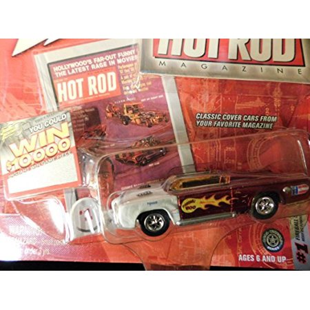 - Modified Plymouth Cuda Fireball 500 red Hot Rod Magazine Cover Edition 164 scale die-cast by Johnny Lightning