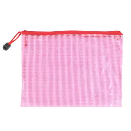 School Office Doent File Zippy Closure Folder Holder Bag 24 X 17cm Pink