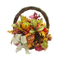 Way To Celebrate Harvest Hanging Floral Basket, Glitter Pumpkin Mix