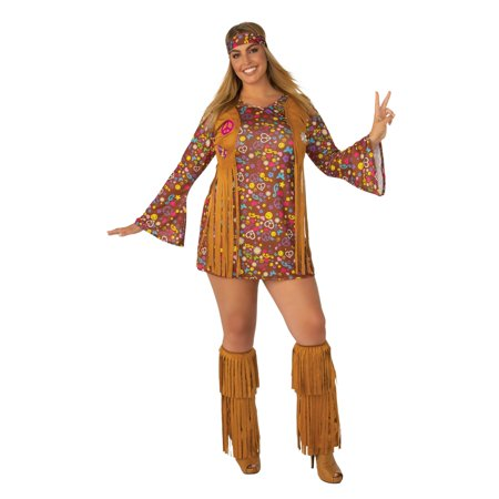 Peace And Love Hippie Costume - Teen Hippie Costume