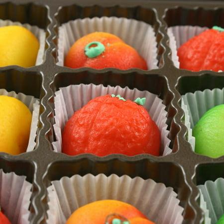 Assorted Marzipan Fruit - 9 Piece (4 ounce) Dark Chocolate Marzipan