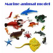 【YIWULA】Simulation Plastic Ocean Animals Figure Sea Creatures Model Kids Educative Toys