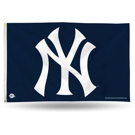 Rico Industries MLB 3' x 5' Banner Flag, New York Yankees