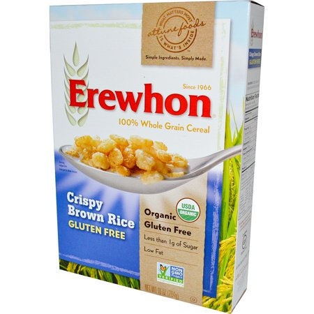 Erewhon, Crispy Brown Rice Cereal, Gluten Free, 10 oz (pack of 2) (Halloween Rice Crispy Balls)