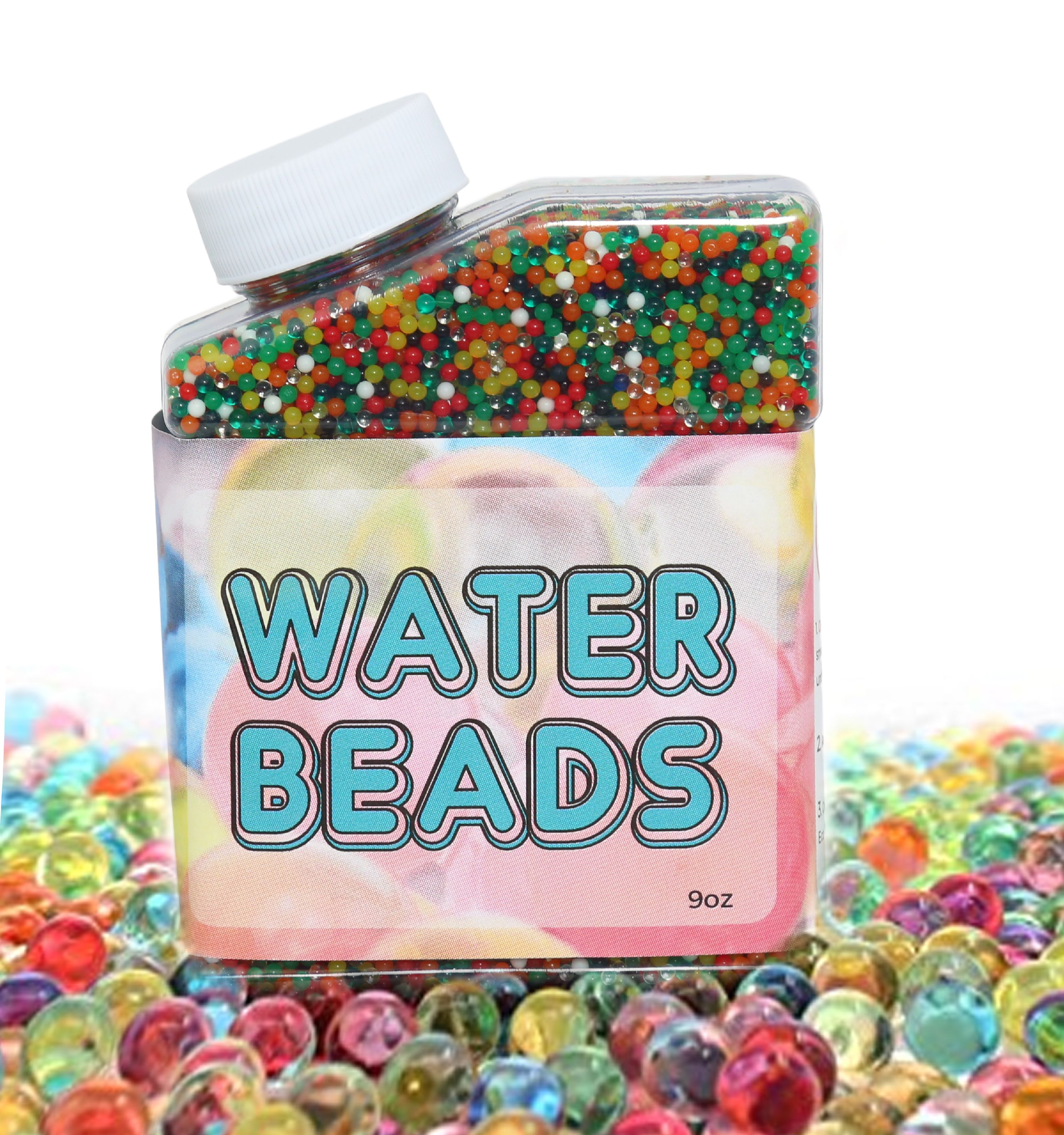 Water Beads Value Pack (35,000 beads) Rainbow Mix Jelly Water Growing Balls for Kids Educational Tactile Sensory Toys, Vases, Plants, and Home Decoration