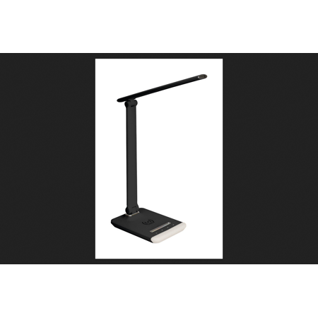 Ihome Lamp - iHome 14.97 in. Gloss Black Desk Lamp w/Charging Station