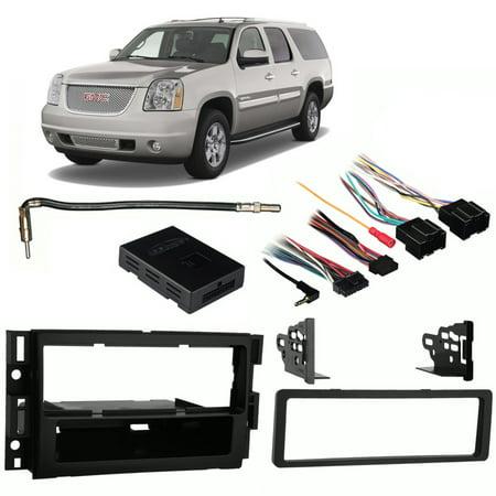 - Fits GMC Yukon XL Denali 2007-2014 Single DIN Harness Radio Install Dash Kit