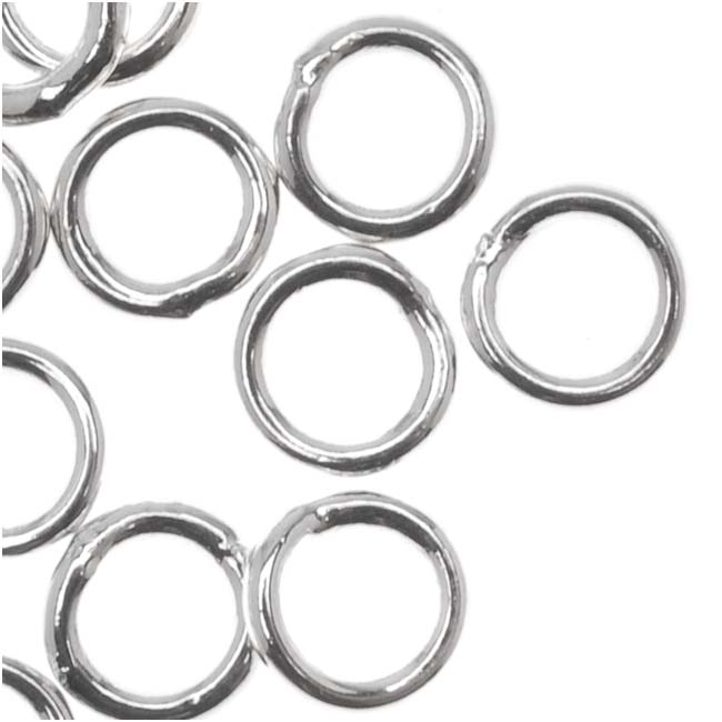 Silver Plated Closed 5mm Jump Rings 19 Gauge (20)