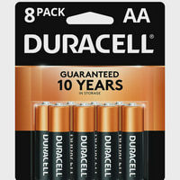 Duracell 1.5V Alkaline AA Batteries, 4 Coppertop + 4 Optimum, 8 Pack (Limited Time Offer)