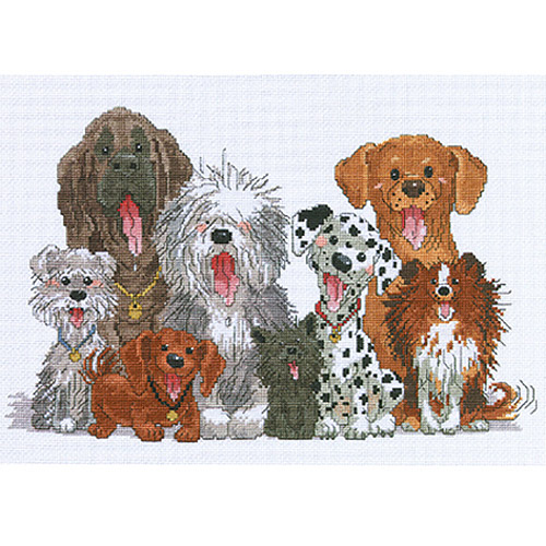 "Janlynn Suzy's Zoo Dogs Of Duckport Counted Cross Stitch Kit, 15"" x 10"", 14 Count"
