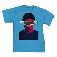 DC Comics Batman vs. Superman Torn Logo Mens Blue T-Shirt | M