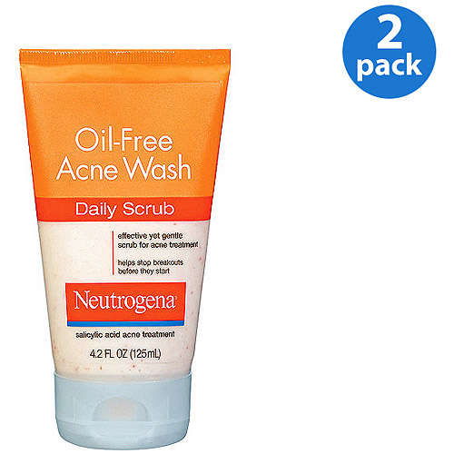 Neutrogena Oil-Free Acne Wash Daily Scrub 4.2 oz (Pack of 2)