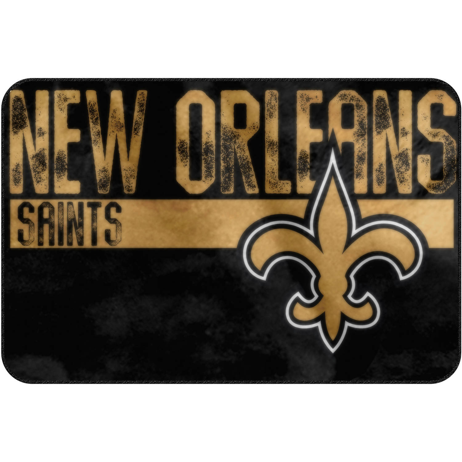 "NFL New Orleans Saints ""Worn Out"" Mat, 20"" x 30"""