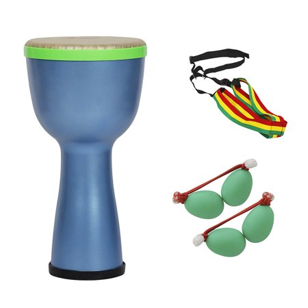 Portable African Drum Djembe Bongo Hand Drum ABS Body 8inch Polyester Drum Head With Egg Shakers Drum Strap