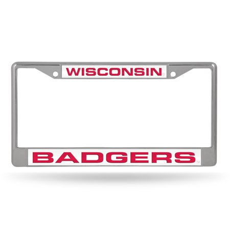 Wisconsin Badgers NCAA Chrome Metal Laser Cut License Plate