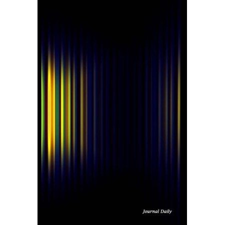 Journal Daily  Yellow Blue   Green Abstract Stripes  Lined Blank Journal Book  150 Pages 6  X 9   15 24 X 22 86 Cm   Blank Journal Pa