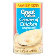 (4 pack) Great Value Cream Of Chicken Condensed Soup, Family Size, 26 oz