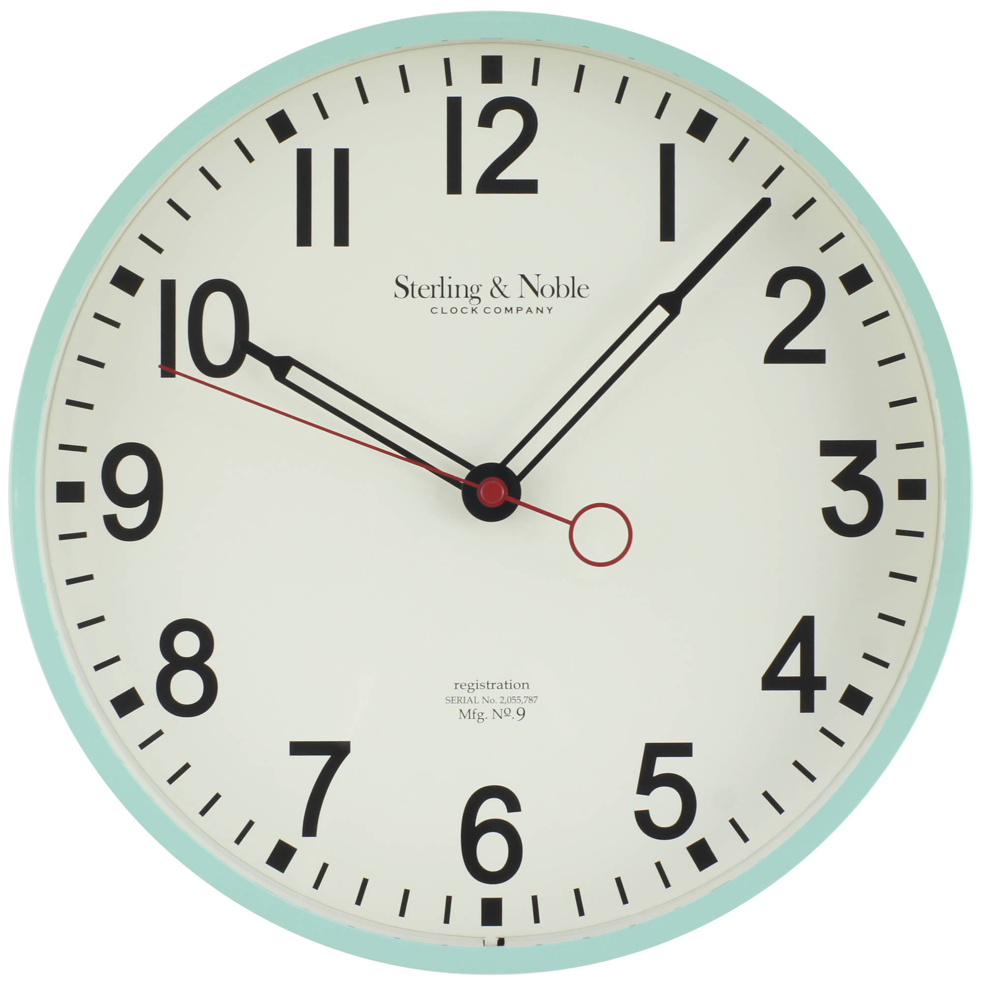 "Mainstays Mint Open Hands 11.5"" Wall Clock"