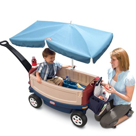 Little Tikes Deluxe Ride Amp Relax Wagon With Umbrella