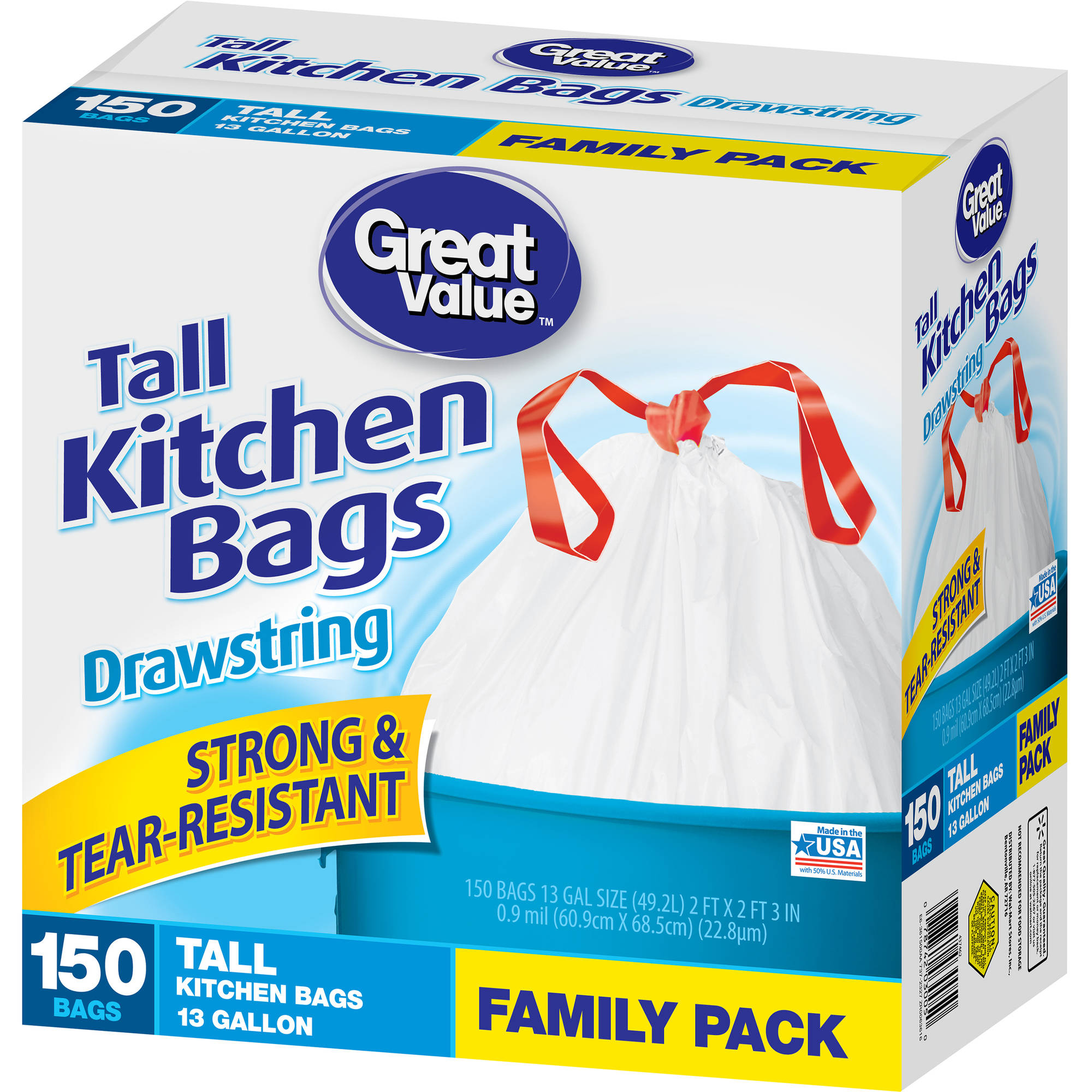 Great Value 13g Drawstring 150ct - Walmart.com