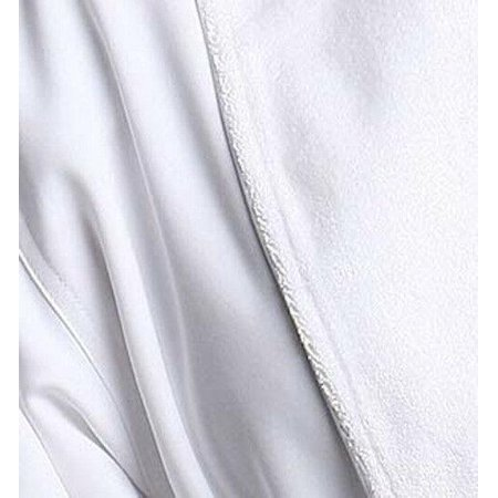 Monarch/Cypress Terry Lined Microfiber Hotel Robe - Luxury Spa Bathrobe -