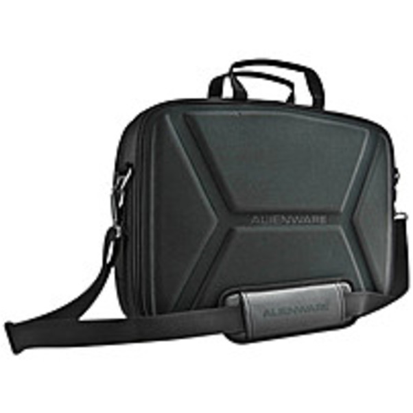 "Refurbished Mobile Edge Alienware Vindicator Carrying Case (Briefcase) for 14.1"" Notebook - Black - Weather Resistant, Scratch Proof Interior - Nylon - Alien Head Logo - Checkpoint Friendly -"