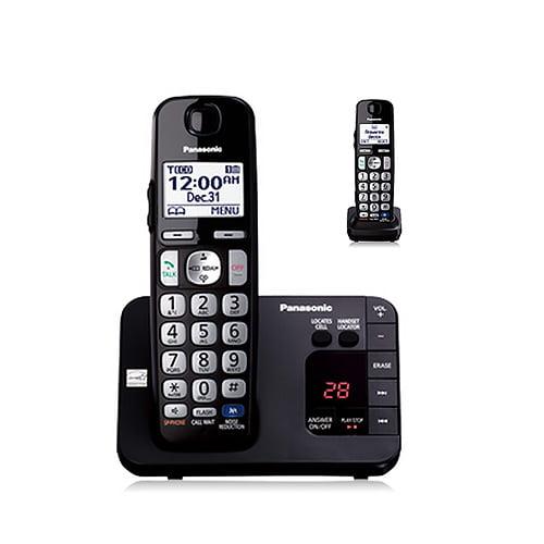 Panasonic KX-TGE232B DECT 6.0 Plus Technology 1.9GHz Wall Mountable 2 Expandable Handset Cordless Phone