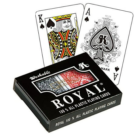 Large Playing Cards Decorations (Royal Large Numbered Plastic Bridge Size Cards - Double)