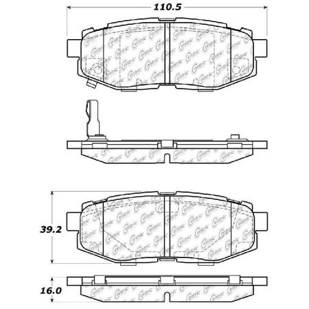 Go-Parts » 2010-2014 Subaru Outback Rear Disc Brake Pad Set for Subaru Outback (3.6R / 3.6R Limited / 3.6R Premium)
