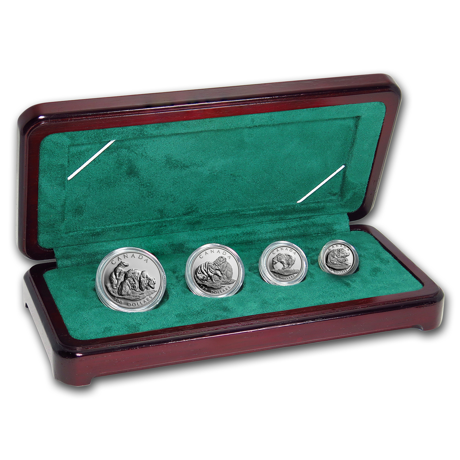 2004 Canada 4-Coin Platinum Proof Set: Grizzly Bear by