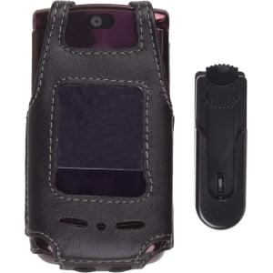 (Wireless Solutions - Swivel Clip Leather Case for Motorola RAZR2 V9, V9m)