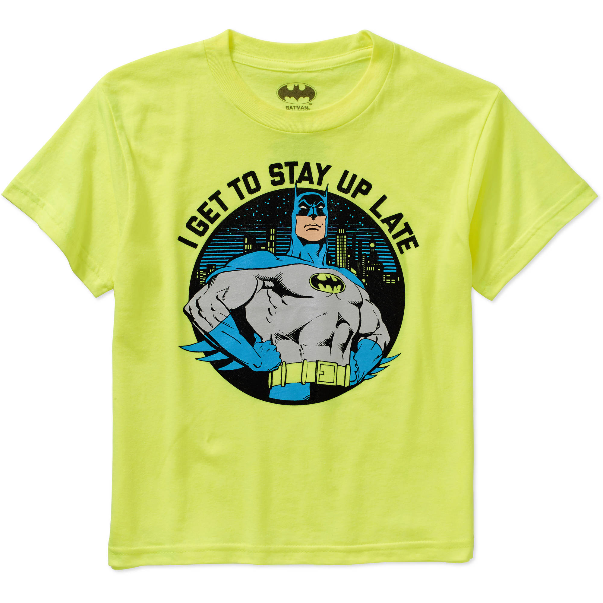 DC Comics Batman Boys' Stay Up Late Graphic Tee