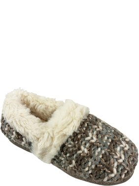 Secret Treasures Women's Knit Slip On Slipper