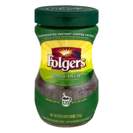 - Folgers Instant Coffee Decaf Classic, 8.0 OZ