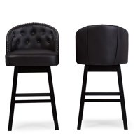 Baxton Studio Avril Swivel Bar Stool Set of 2 by Wholesale Interiors