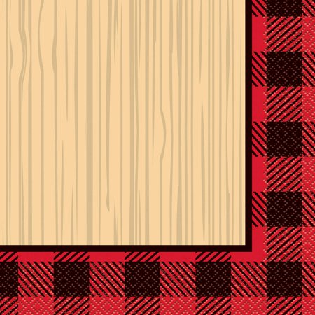 Buffalo Plaid Lumberjack Paper Luncheon Napkins, 6.5in, 16ct - Plaid Paper Plates