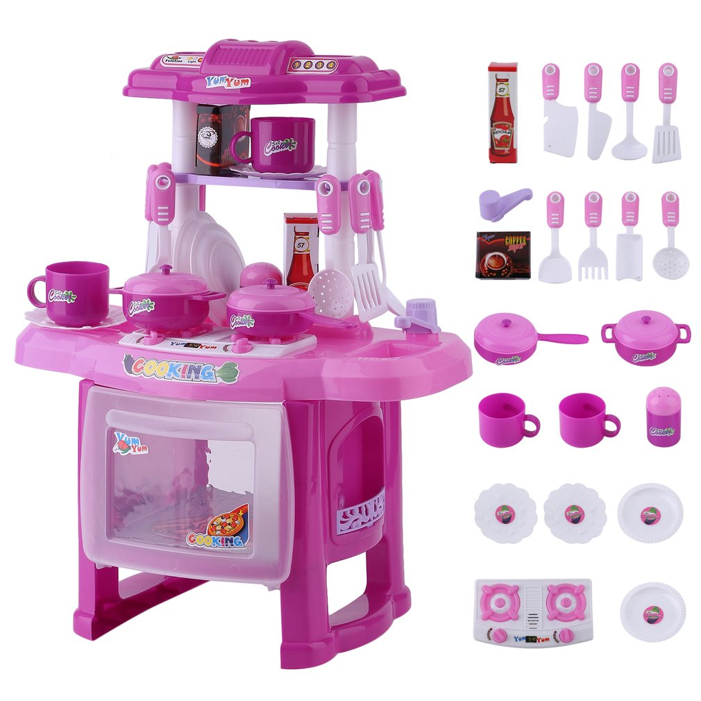 Play Kitchen Food Set For Kids Children Cooking Kitchen Baby Girls Boys  Pretend Play Toys Set