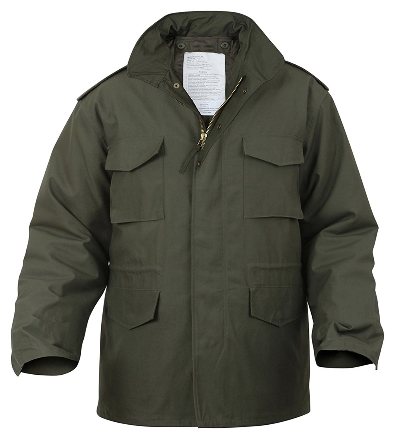 Rothco Military M-65 Field Jacket - Olive Drab, Medium